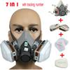Wholesale-6200 Respirator Gas Mask Body Chemical Masks Dust Filter Paint Dust Spray Chemical Gas Mask Half face Mask,Construction Mining