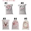 2017 New West Christmas Gift Bags Large Organic Heavy Canvas Bag Santa Sack Drawstring Bag With Reindeers Santa Claus Sack Bags OTH091