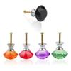 New Handles Knobs handles for furniture Crystal Plated Cabinet Handle Cupboard Closet Drawer Knob