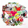 100pcs Mixed vintage anime smiley Stickers bomb JDM DIY car-styling emoji 3D car stickers and decals for laptop wall motorcycle