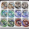 SENHUA Wholesale 12pcs lot Unique New Zealand Maori Fish Hook Lampwork Murano Art Glass Beaded Charms Pendant Necklace Jewelry Findings MC21