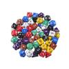 High Quality Free shipping Outdoor KTV Fun 7pc Set Dice Multi-Sided Dice with Marble Effect d4 d6 d8 d10 d10 d12 d20 Dice Game 8 Color