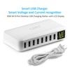iLepo Smart HUB USB Charging 8-Port Wall Charger with LCD Display 40W MAX 8A Desktop USB Multi-Port Charging Station For iPhone Tablets iPad