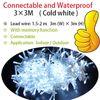 3X3M à prova d'água de frio branco