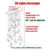 36 Главы L110 * W37cm Прямоугольные