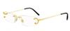 Luxury Alloy Rimless Gold Silver Eyeglass Frame Women Man Hinged Glasses Frames Buffalo Horn Eyewear Oculos Lunette De Soleil