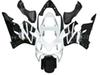 Injection CBR600F4i fairings for HONDA CBR600F4i 01 02 03 CBR600 F4i 01-03 2001 2002 2003 fairing kit #e9j43 white black