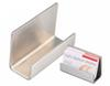 Free shipping Modern Stainless Steel Business Card Holder Name Card holders note holder Display Stand Satin Finish Luxury Desktop Stand Case