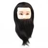 Male Mannequin Heads 100% Human Hair Natural Black Manikin For Competition With Bread + Clamp Training Head