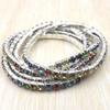 Free Shipping One Tier Multicolor Crystal Stretchy Bangle Rhinestone Bracelets Wholesale 100pcs
