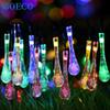 Wholesale- 20Led Solar Light String Yard Tree Lawn Xmas Decor for Garden 5Meter Solar Powered Water Drop String Fairy Light