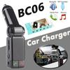 BC06 Bluetooth MP3 Car Charger BT Wide Use Wireless Music Player BC-06 Support TF Card Speaker Mini Dual Ports Charging AUX FM Transmitter
