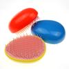 1 Pcs Egg Shaped Plastic Combs Compact Portable Anti-static Straight Colorful Comb for Women