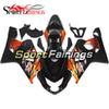 Fairings Fit Suzuki GSXR600 GSXR750 K4 Year 04 05 2004 2005 ABS Motorcycle Fairing Kit Bodywork Motorbike Fairings Black Orange Carenes