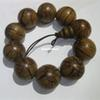 2.5cm Natural Wood Buddha Beads Bracelet Hand Carved Tibetan Buddhist Male Prayer Bracelet Meditation Wrist Wooden Bracelet Beaded Strands