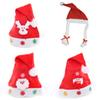 Mixed Christmas Hats New Year Party LED Plait Performance Hats Stars for Adult Kids 12pcs lot LTG