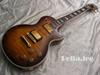 Custom guitar store,flame maple Top Vintage sunburst color Convex body electric guitar,China made guitars