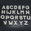 260pcs lot DIY Slide letters A-Z inlaid with rhinestone for pet dog cat collars with slide bar
