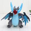 25cm Approx 10'' pikachu X Y Mega Charizard Soft Plush Toys Anime Figure Dolls Blue Fire Dragon Christmas Gifts