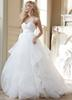 2017 Ball Gown Wedding Dresses Sexy Tulle Sweetheart Natural Wasit Zipper Back Puffy Style Sweep Train Wedding Bridal Dresses