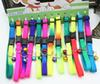 Wholesale Rainbow Color Dog Cat Collars Nylon Adjustable Puppy Lead Neck Rope Bells Collar Pet Supplies Wholesale 50PCS Free Shipping