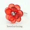 Acrílico rojo de la flor