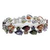 "925 Sterling Silver Rhinestone Crystal Gemstone Amethyst Peridot Garnet Morganite Tennis Links Bracelets Jewelry 8"" INCH"