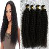 Natural color mongolian kinky curly hair afro kinky curly u tip hair extensions 200s pre bonded curly keratin bond hair extensions 200g