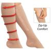 100pairs Zipper Compression Leg Socks Women Zip-Up Sock Ultrathin Breathable Zip Sox