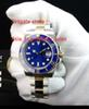 High quality Watcshes + Box blue Ceramic Bezel blue Dial 116613 16613 Stainless Steel Asia 2813 Mechanical automatic Mens Watche