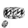 100% Stainless Steel Ring Men Women Vintage Jewelry Punk Style Buddha 2 Buddha Ring Curb Chain Sale Factory Offer