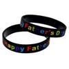 Wholesale 100PCS Lot Happy Father Day Silicone Wristband Bracelet Great To Used In Father Day Gift