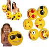 30CM PVC Beach Ball Toys Emoji Expression Face Inflatable Ball Adult Children Sand Play Water Fun Toys HH-T27