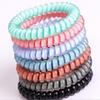 New Designer Accessories Candy Color Telephone Wire Cord Headband for Women Girls Elastic Hair Rubber Bands Hair Ties Hair Jewelry