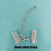 16mm Crimp silber