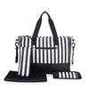 Wholesale-New Arrival 5PCS Set Large Capacity Women Mummy Changing Bag Baby Diaper Nappy Bags Travel Lage Handbag
