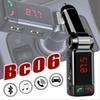 BC06 Car Charger High Performance Digital Wireless Bluetooth Fm Transmitter in-car Bluetooth Receiver fm Radio Stereo Adapter