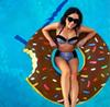 Wholesale 2017 New 90cm Gigantic Donut Swimming Floats Inflatable Swimming Ring Adult Pool Floating Summer Beach Toys