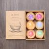6pcs Organic Bath Bombs Bubble Bath Salts Ball Essential Oil Handmade SPA Stress Relief Exfoliating Mint Lavender Rose Flavor