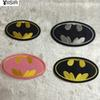 Fabric Batman Logo Cartoon Hotfix Motif Embroidered Clothes Patches,Sew On,Iron On Patch,Clothing Appliques For Biker