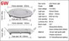 Dimmable 6W (Round / Square)