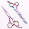 C1005 6'' Customized Brand Multicolor Hairdressing Scissors Factory Price Cutting Scissors Thinning Shears Professional Human Hair Scissors