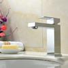 Free shipping H59 brass body square hot and coldwater single hole single handle basin