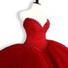 Puffy Quinceanera Dresses 2019 Sweetheart Top Beading Sweet 16 Ball Gowns Red Quinceanera Dress 15 Years Birthday Party Gowns