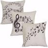 Wholesale- Square Music Notes Melody Linen Throw Pillow Case Waist Cushion case