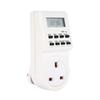 Freeshipping 12 24 Hours 7days week EU US UK AC Plug Programmable Timer Switch Socket Digital LCD Electronic Plug-in Smart Home