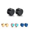 1 Pair Men Titanium Steel No Ear Hole Ear Cuff Earrings Fashion Men Jewelry Five Colors