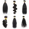 Kiss Hair 3 Bundles 8-28 inch Brazilian Virgin Remy Human Hair Loose Wave Yaki Straight Deep Curly Body Wave Straight Color 1B Black