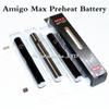 Authentic Amigo Max Preheat Battery 380mAh Variable Voltage Bottom Charge 510 Battery For Thick Oil Vaporizer Pen Cartridges