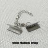 10mm Crimp Rhodium
